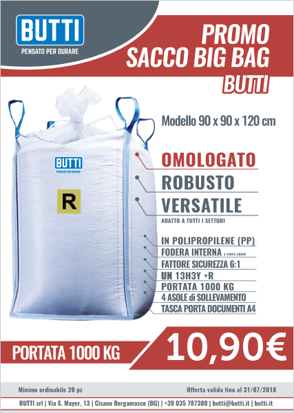 PROMO SACCO BIG BAG - BUTTI