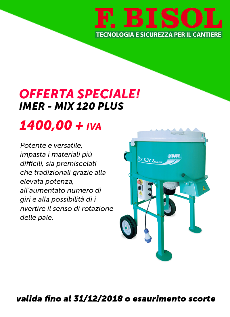Promo speciale - Imer MIX 120 PLUS